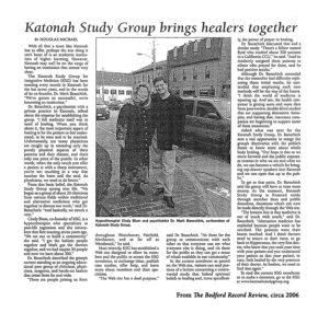 Katonah Study Group Article - circa 2006